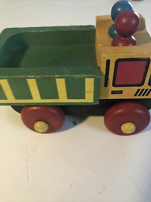 Vintage Montgomery Schoolhouse Wooden Car Vehicle Truck Toy Set of 3 Vermont Free Shipping