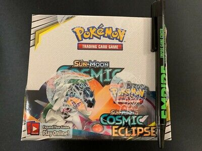 Pokemon TCG: Sun and Moon - COSMIC ECLIPSE Booster Box - Factory Sealed!