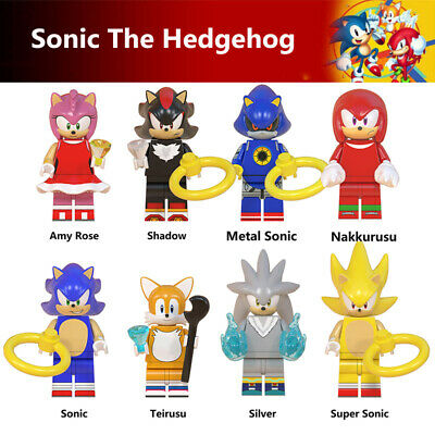 Sonic The Hedgehog Minifigure Fit Lego Kids Toy Collection Birthday Gift 10Pcs