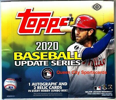 2020 Topps Update Series Baseball Factory Sealed Jumbo Box