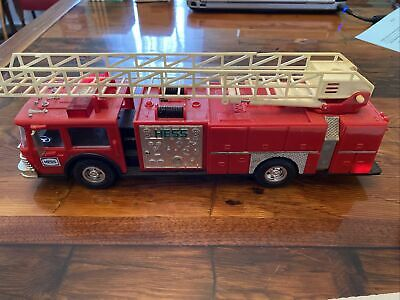 1986 Hess Fire Truck Bank with Ladder - Used - no box.