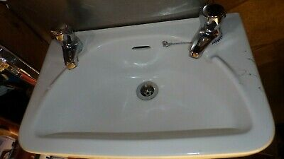 Small Ceramic Hand Sink ,complete with taps - Caravan / boat / Man cave