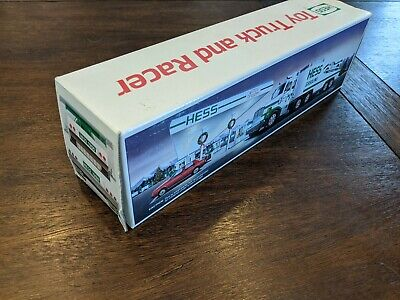 1988 Hess Toy Truck and Racer, New in Box