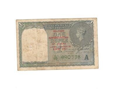 1 Rupees Note George V King Year 1940 Very Rare Note Sign. By C.E. Jones
