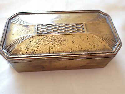 Wmf Brass Stamp Box Holder Jungendstil Art Nouveau Collectors Piece Philately