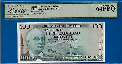 Iceland-Sedlabanki Islands 100 Kronur L.1961 (1961-84) p.44a Very Choice New