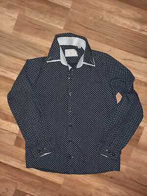 boys river island navy & light blue shirt age 11 years long sleeved new no tags