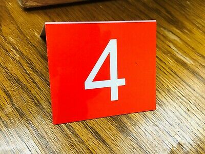 """Numbered plastic 3x3.5"""" table tents red 1 -25 76-100 no wait 23 sets ready."""