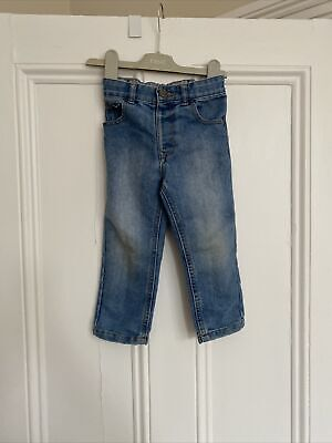 Boys Light Blue Straight Leg Jeans From George Age 2-3 Years