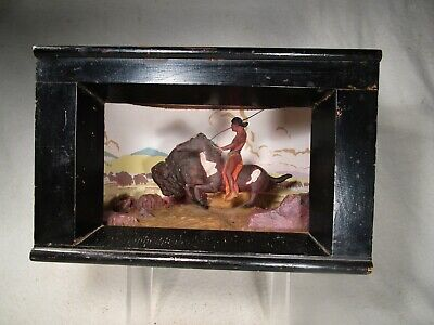 1930's WPA Museum Extension Project Diorama-Arapaho Hunting Buffalo- See Pics