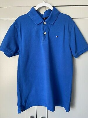 Boys Blue Tommy Hilfiger Polo T Shirt        Size M Age 8-10