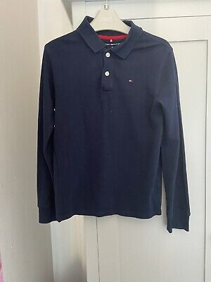 Boys Tommy Hilfiger Long Sleeve Polo T Shirt Age 8-10 years