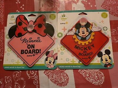 Mickey and Minnie mouse on board safety 1st signs