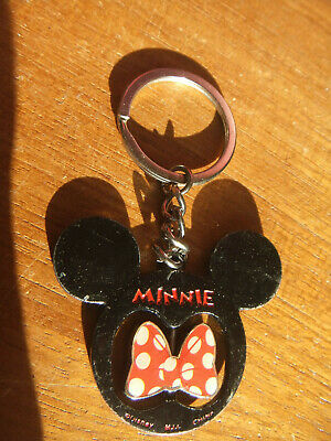 minnie Mouse Metal Key Ring Spinner. Rather worn