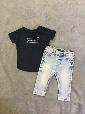 Next, River Island Baby Boys 3-6 Months Outfit, Jeans, Top 💙Bundle Combine Post
