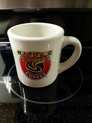 Waffle House Coffee Mug, Art Deco Logo Print Mug 50th Anniversary