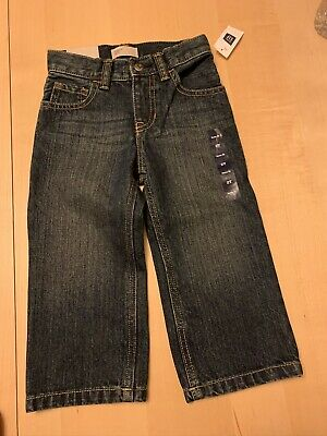 Baby Gap Loose Fit Jeans, Dark Blue Wash, 2T, Boys, New With Tags!