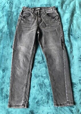 Boys Peacocks Urban Outlaws Size 8-9 Years Black Skinny Fit Straight Leg Jeans