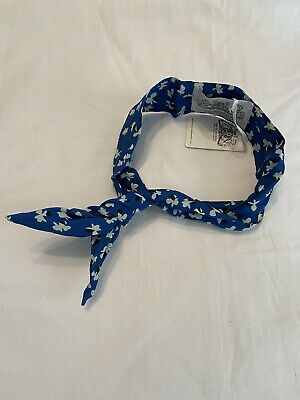 The Seamstress Of Bloomsbury Hairband In Blue Clove Print. BNWT