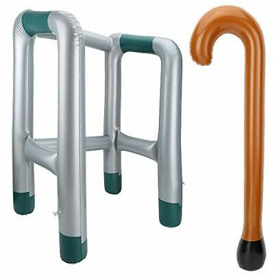 Inflatable Zimmer Frame and Walking Stick Blow Up Toy Novelty Present