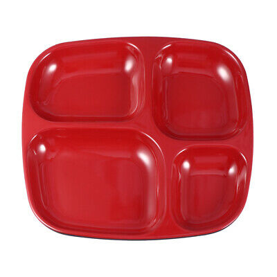 1pc Separating Dish 4 Grid Safe Divided Compartments Plate for Home Restaurant