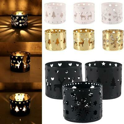 Christmas Tea Lights Rotary Candlestick Candle Holders Xmas Home Metal T1Y5 F5D0