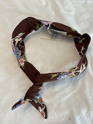 The Seamstress Of Bloomsbury Hairband In Brown Floral Dancer Print. BNWT