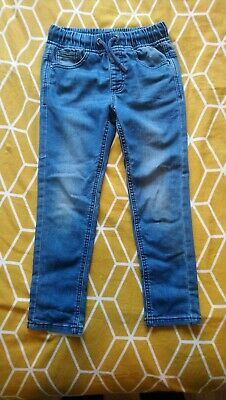 Boys Matalan Blue Stretch Jeans Elasticated Waste Size 7-8yrs/Height 128cm