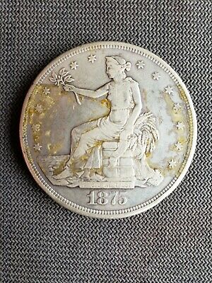 Seated Liberty Silver dollar 1875, Type 2 Reverse, Great Coin