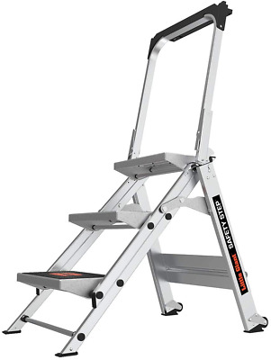 Little Giant Ladders, Safety Step, 3-Step, 3 Foot, Step Stool, Aluminum, Type 1A