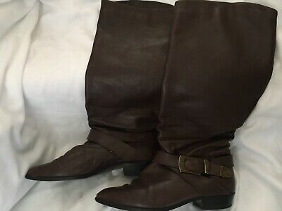Vintage 1980's Ravel Brown Boots Uk6