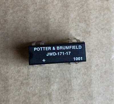 2 pcs Potter & Brumfield JWD-171-17 Relay Reed SPST .5A 5V Normally Closed