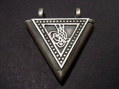 Magnificent Vintage Tughra Amulet Pendant *Muska* From The Balkans!!!