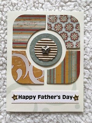 Handmade HAPPY FATHER'S DAY Greeting Card with Chipboard, brads, star in Autumn