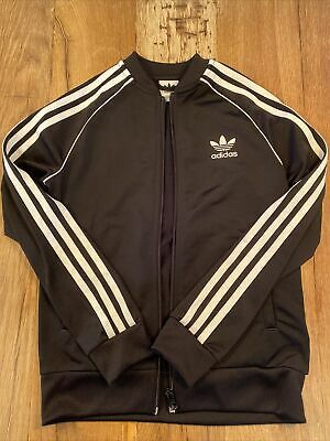 Adidas Tracksuit Top Black Boys Age 9-10 - Immaculate Condition