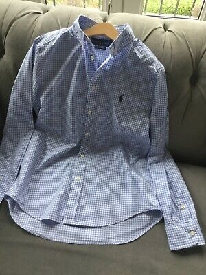 Boys Ralph Lauren shirt age 14/16 with natural stretch