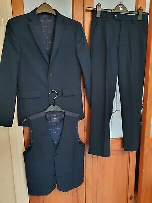 Boys Next 3 Piece Suit Age 11 Years Colour Blue Pre owned