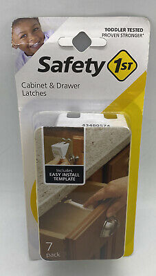 Safety 1st Cabinet & Drawer Latches, 7-Count Child Safety Locks Baby Proof New