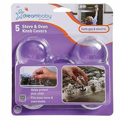 Dreambaby Stove & Oven Knob Covers, Clear. 5 Count, New