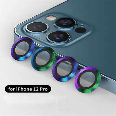 For iPhone 12 Max Pro 12 Mini Camera Lens Protector 3 Ring Cover Tempered Glass