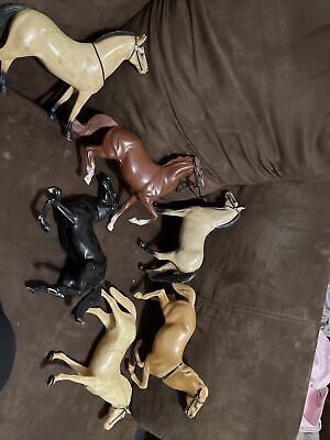 Vintage Harland Horses Lot Of 6 As Is