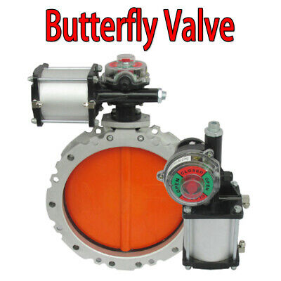 Pneumatic powder Cement double flanged butterfly valve DN300