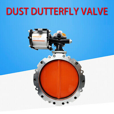 double flanged Pneumatic powder Cement  butterfly valve DN300