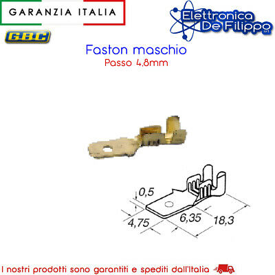 Connettore Faston Maschio Di 4,8Mm