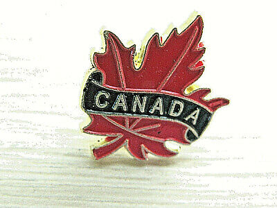 New Canadian National Flag Badge Pin Pinback Butterfly Clasp
