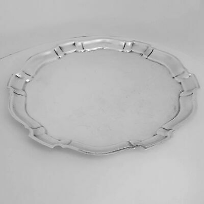 """POOLE STERLING SILVER 120 CHIPPENDALE ROUND TRAY USE or SCRAP 1100 Grams 13-1/2"""""""