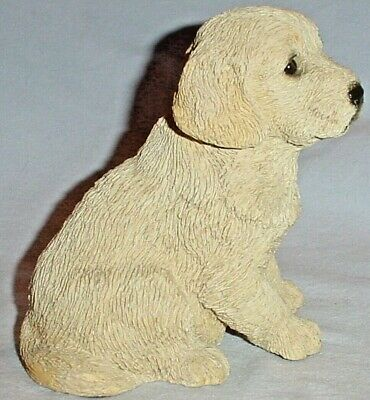 SITTING GOLDEN RETRIEVER PUPPY FIGURINE  from LIVING STONE 1994/4.25 tall