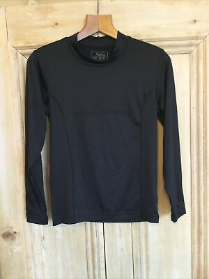 SWI school baselayer top black 30 - 32 unisex