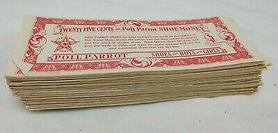 1930's-1950's Poll Parrot Shoe Money Over 200 Bills Different Denominations!