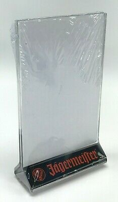 JAGERMEISTER TABLE Top Two Sided Bar Display Sign Menu Holder - NEW
